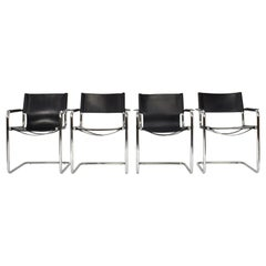 Set of Four Mart Stam Chairs by Matteo Grassi, Italy, 1970s