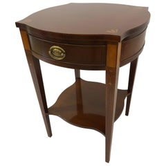Historic Baker Charleston Collection Mahogany Side Table with Fan Inlay