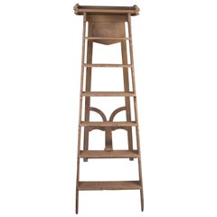Gray Painted Library Ladder, France, circa 1880