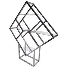 Mid-Century Modern Square Diamond Étagère Attributed to Milo Baugman
