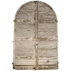 Pair of Large Antique French Door Shutters from a Chateau, 19th Century
