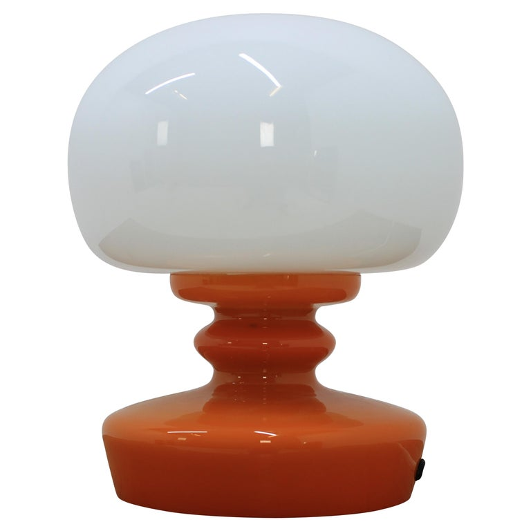 Glass Table Lamp, 1970s For Sale