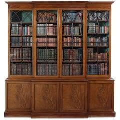 George III Mahogany Breakfront Library Bookcase