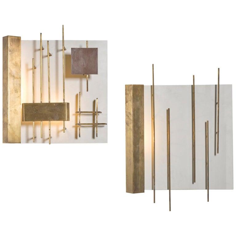Quadri Luminosi Model Number 575 and 576 Designed by Gio Ponti For Sale