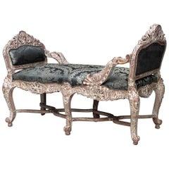 Italian Venetian Style Tête-à-tête Conversation Seat