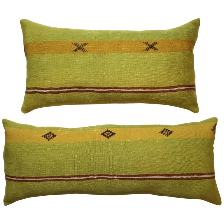 Pair of Cactus Silk Pillows For Sale