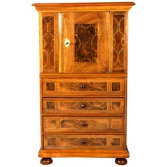 Flat Baroque Diaper Charging 18th Century Walnut Veneer Restored & Shellac Poli