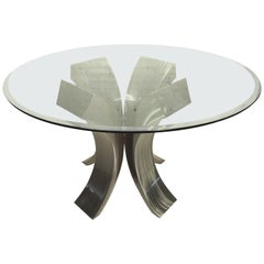 Brushed Metal Dining Table