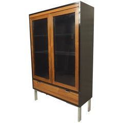 Rosewood Glass Front Cabinet