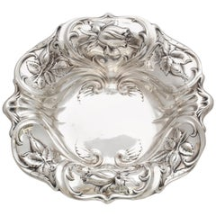 Art Nouveau Sterling Silver Serving Bowl by Whiting Mfg. Co.