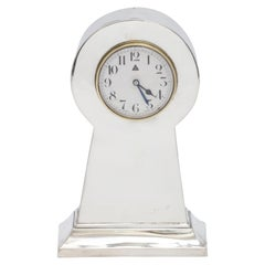 Art Deco Sterling Silver 8-Day Table Clock
