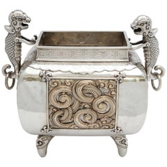 Art Deco Sterling Silver '.950' Footed Japanese Centrepiece/Planter