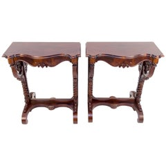 Pair of 19th Century Regency Style Wall Console Tables