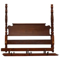 Reproduction Acanthus Carved Tall Post Bed, King Sized