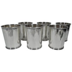 Set of 6 Reed & Barton Sterling Silver Mint Julep Cups from Carter Era