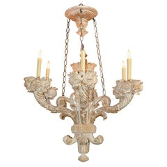 19th Century French Carved Chandelier