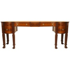 English Regency Mahogany Sideboard