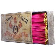 Tabakwerbung überdimensionale Streichholzschachtel, um 1925