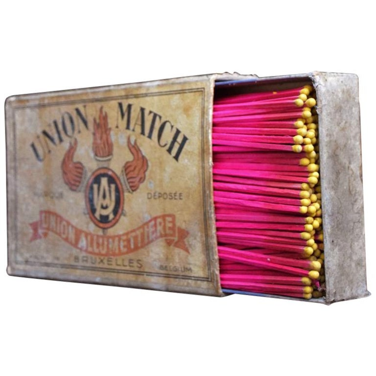 Tobacconist Advertising Oversized Match Box, circa 1925 For Sale