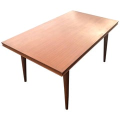 Dining Table by Gaston Poisson with leaves
