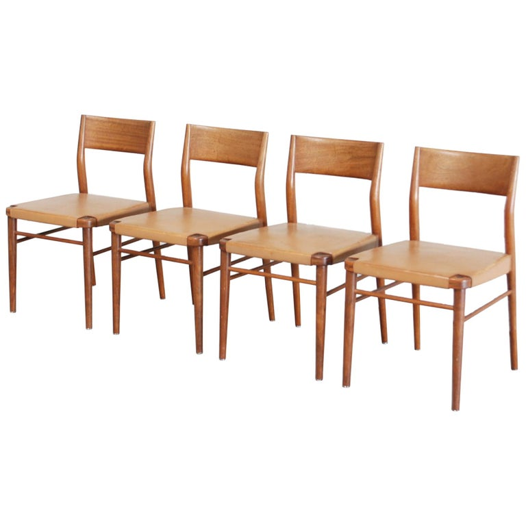 Prime Georg Leowald Saddle Leather Dining Chairs For Wilkhahn Set Of 4 Ibusinesslaw Wood Chair Design Ideas Ibusinesslaworg