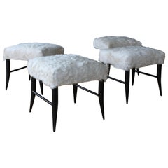 Croft Stool in Cowhide by Hollywood at Home