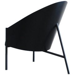 Philippe Starck Black Chair Armchair Driade Aleph Model Pratfall