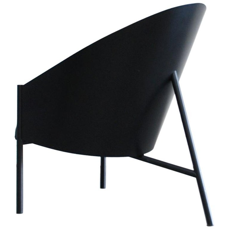 Philippe Starck Black Chair Armchair Driade Aleph Model Pratfall For Sale
