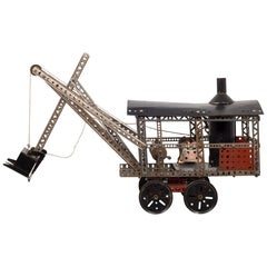 Erector Set TruModel Steam Shovel Model #77 and Original Box, circa 1928