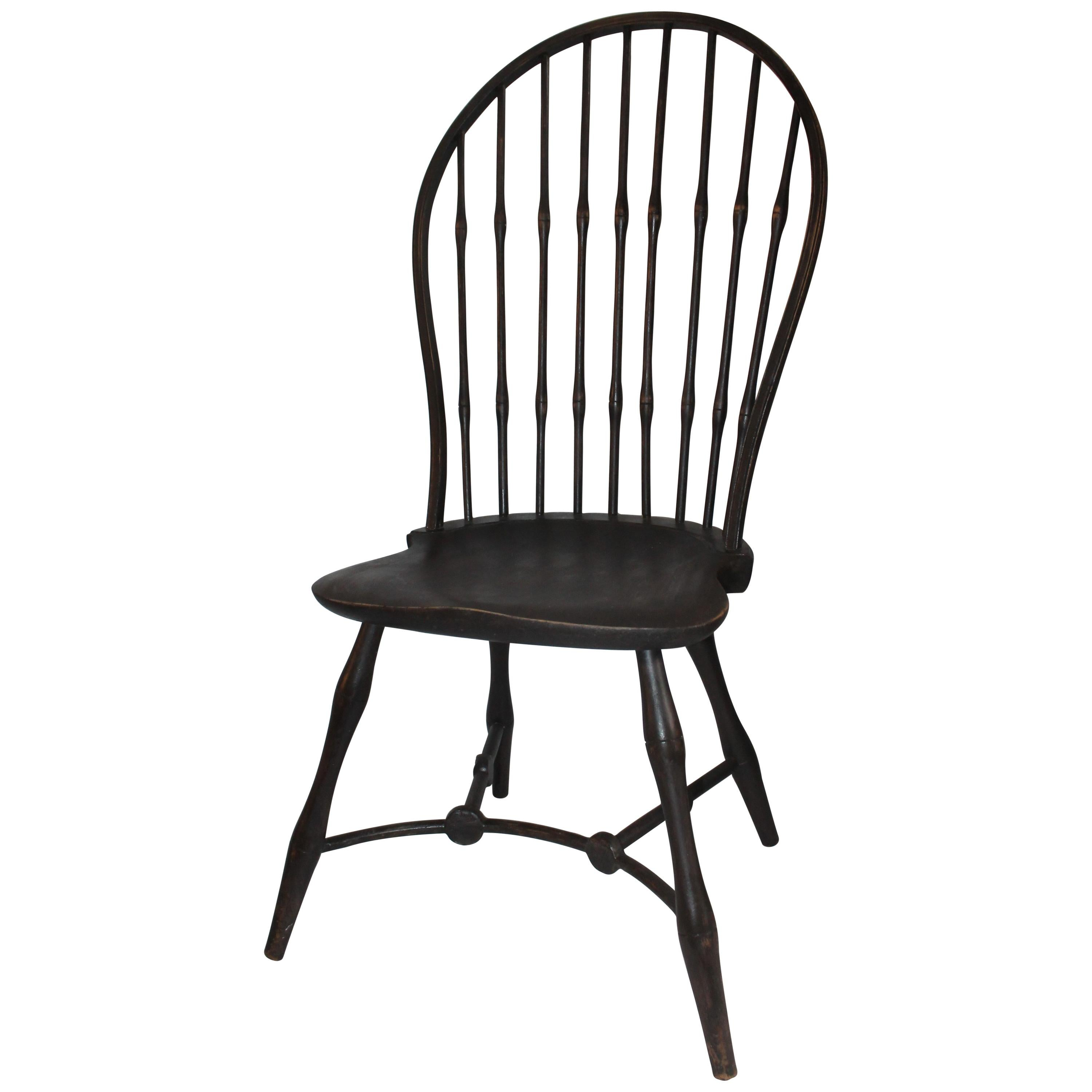 19th Century Windsor Chair with Balloon Back