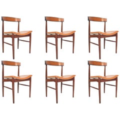 Set of Six Danish Modern Model 10 Rosewood Dining Chairs by Johannes Andersen