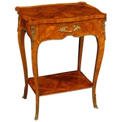 20th Century Inlaid Rosewood French Side Table, 1960