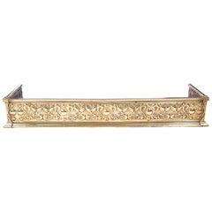 Quality Antique Brass Art Nouveau Fender
