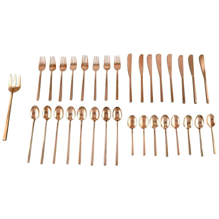 Sigvard Bernadotte 'Scanline' Cutlery Complete for 8 Persons For Sale