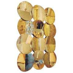 Contemporary Wall Sculpture by Cornelia Laufer 'Wall of Circles' 2018