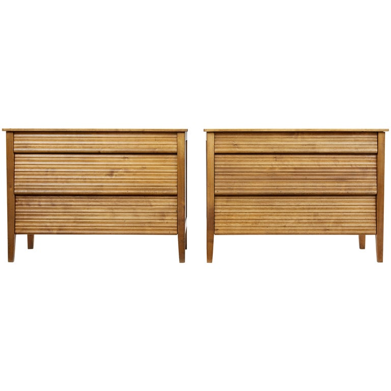 Pair of 1950s Scandinavian Teak Chest of Drawers 1