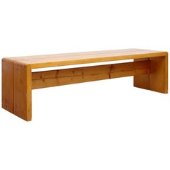 Charlotte Perriand, Mid Century Modern Large Wood Bench for Les Arcs, circa 1960