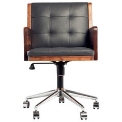 Office Chair, International Style Wooden Office Chair
