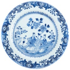 18th Century Blue and White Chinese Plate