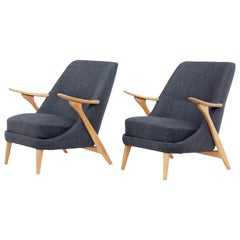 Pair of Mid-20th Century Armchairs by Svante Skogh for Seffle Mobelfabrik