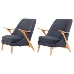 Pair of Scandinavian Modern Armchairs by Svante Skogh for Säffle Möbelfabrik