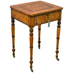 Regency Satinwood Writing Table
