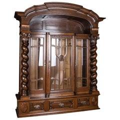 Castle Worthy Cabinet Neo Renaissance, circa 1860-1880 Oak