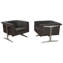 Mid-Century Modern Set of Chairs in Grey by Geoffrey Harcourt, Artifort, 1969