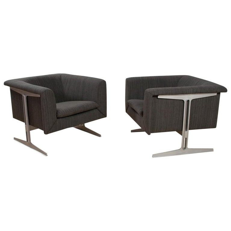 Mid-Century Modern Set of Chairs in Grey by Geoffrey Harcourt, Artifort, 1969 For Sale