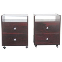 Pair of Nightstands Carlo de Carli, 1960 for Sormani Italian Design Rosewood