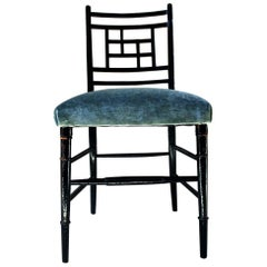 Aesthetic Movement Ebonized Side Chair in the Manner of E.W. Godwin