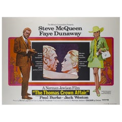Thomas Crown Affair, British UK Film Poster, 1968, Arnaldo Putzu