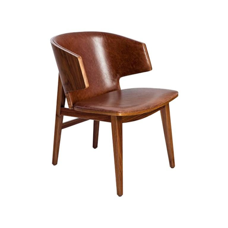 Sarr, Mid-Century Modern Wooden Chair, Dining chair, Office chair For Sale