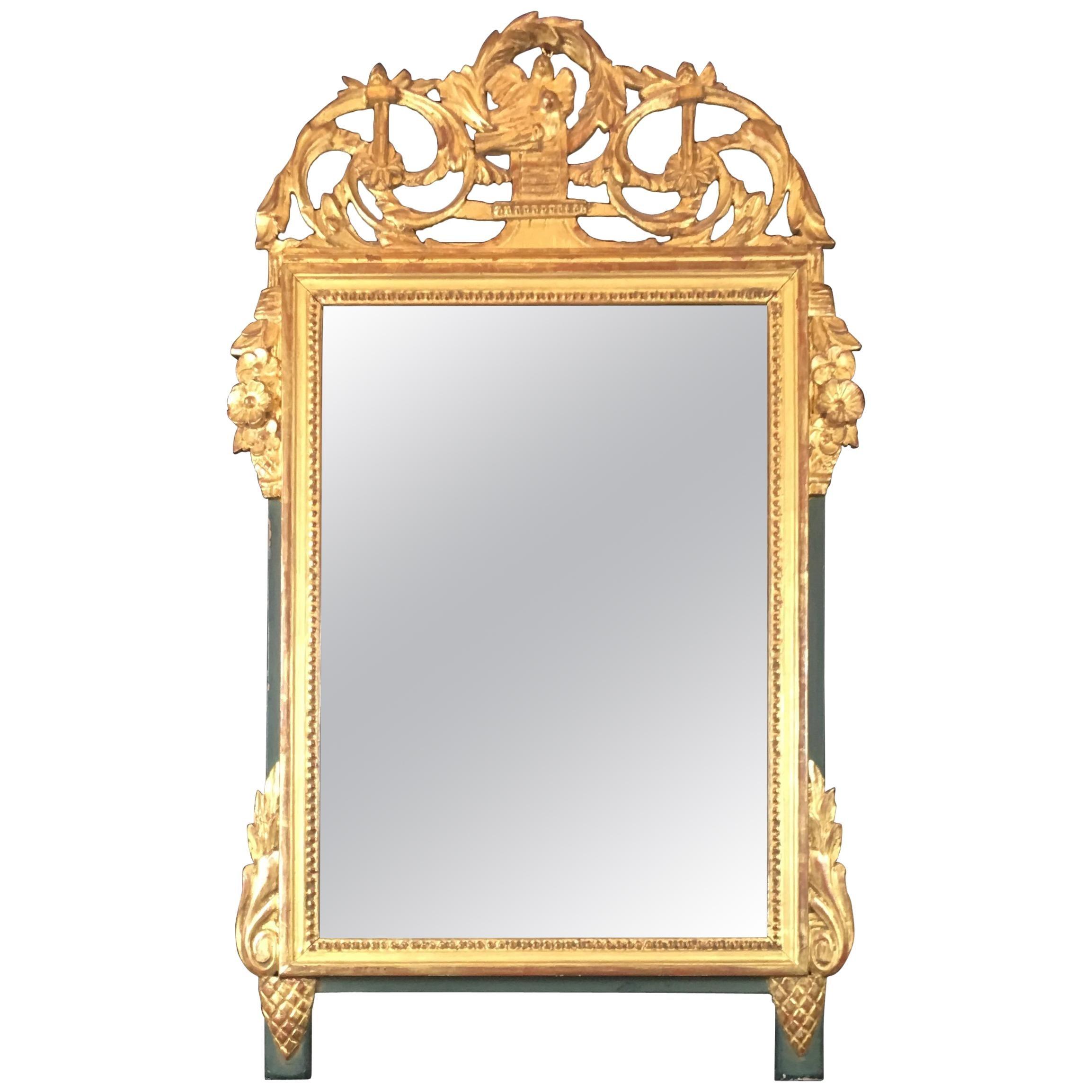 French Louis XVI Style Gilt Wall Mirror